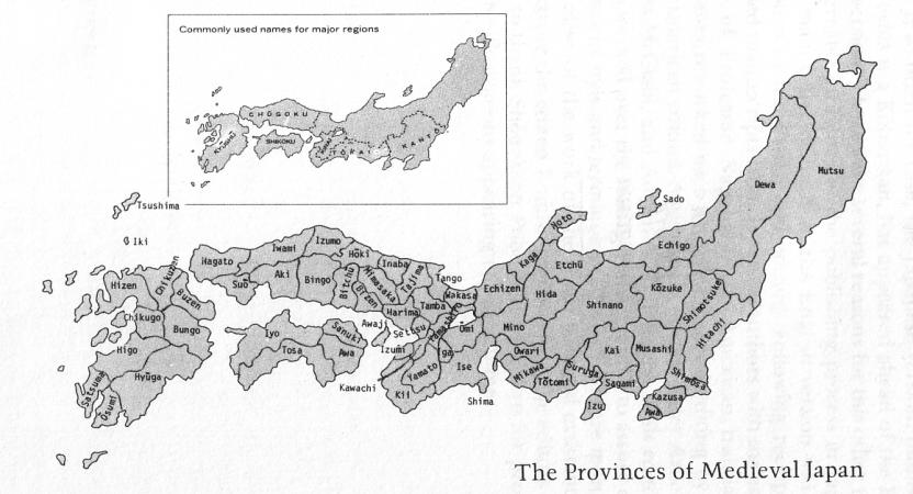 Map of Sengoku Japan